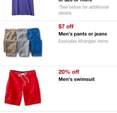 Men's Pants $.47 at Target