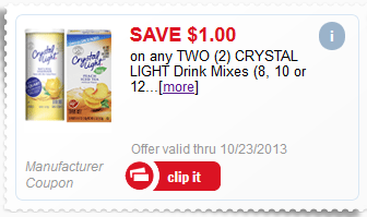 Free Crystal Light at Meijer with Mperks