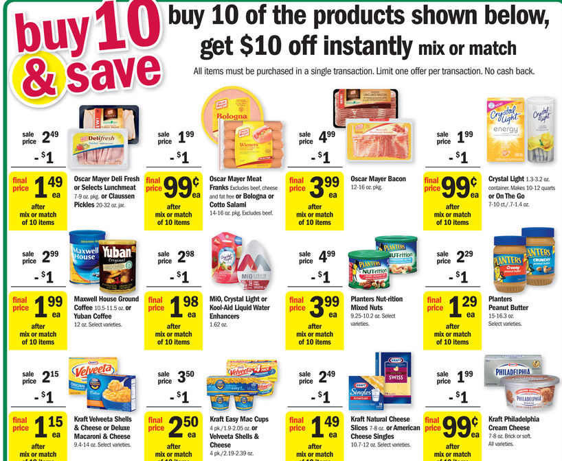 Buy 10 Save 10 Sale Meijer on oscar mayer bacon coupon 2013
