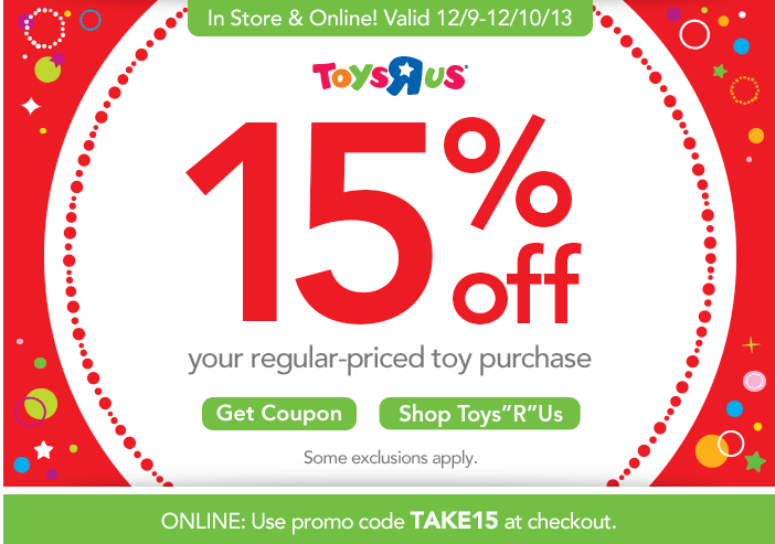 Toys R Us Promo Codes & Coupon Codes. Online In-Store 92 used today May ToysRUs Coupons & Promo Codes. All the current ToysRUs and BabiesRUs coupons and promo codes are unavailable right now. Please click through to be directed to other deals on Toys & Games. Save on essentials items from gifts to plates with this offer by Toys R Us.5/5(12).
