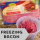 Freezing Bacon