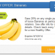20% Off Bananas with SavingStar