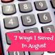 7 Ways I Saved Money In August