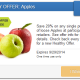 20% off Apples with SavingStar