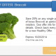 20% off Broccoli with SavingStar