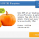 20% off Pumpkins with SavingStar