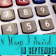 8 Ways I Saved in September