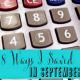 8 Ways I Saved in September