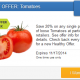 20% off Tomatoes with SavingStar